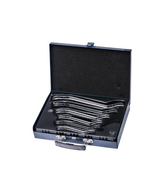 6件套铁盒曲板双头棘轮梅花扳手 G19R06B