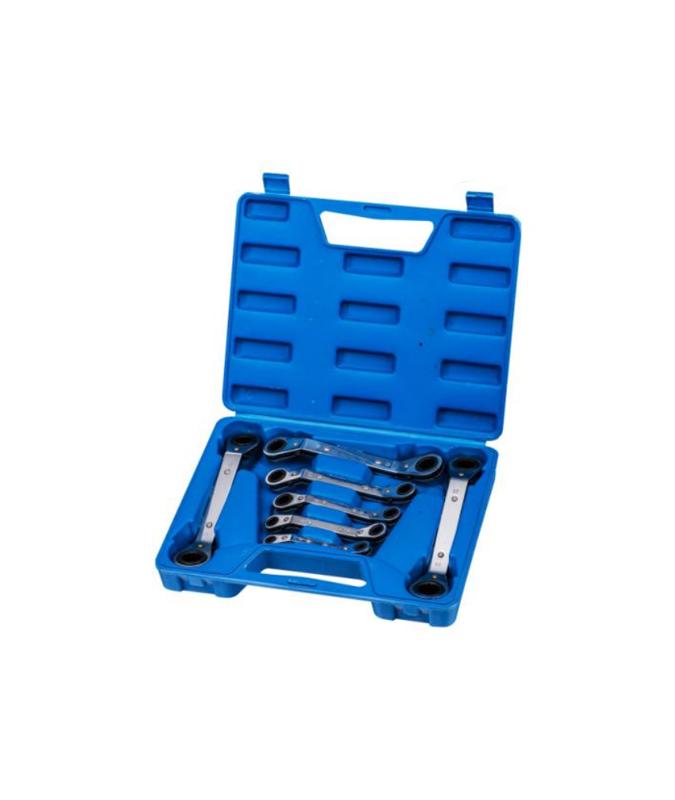 7件套铁盒曲板双头棘轮梅花扳手 G19T07